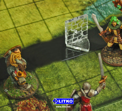 RPG Secret Door Markers, Clear (5) - LITKO Game Accessories