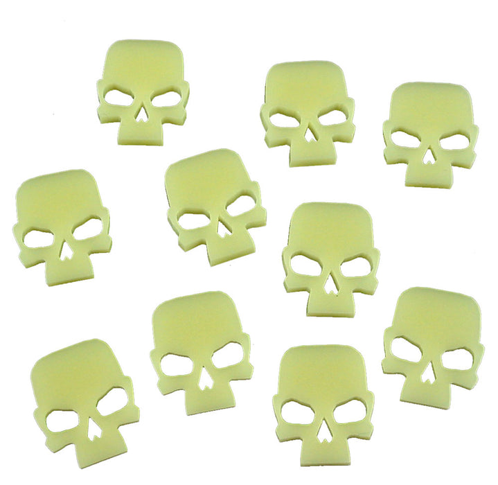 Gothic Skull Tokens, Ivory (10) - LITKO Game Accessories
