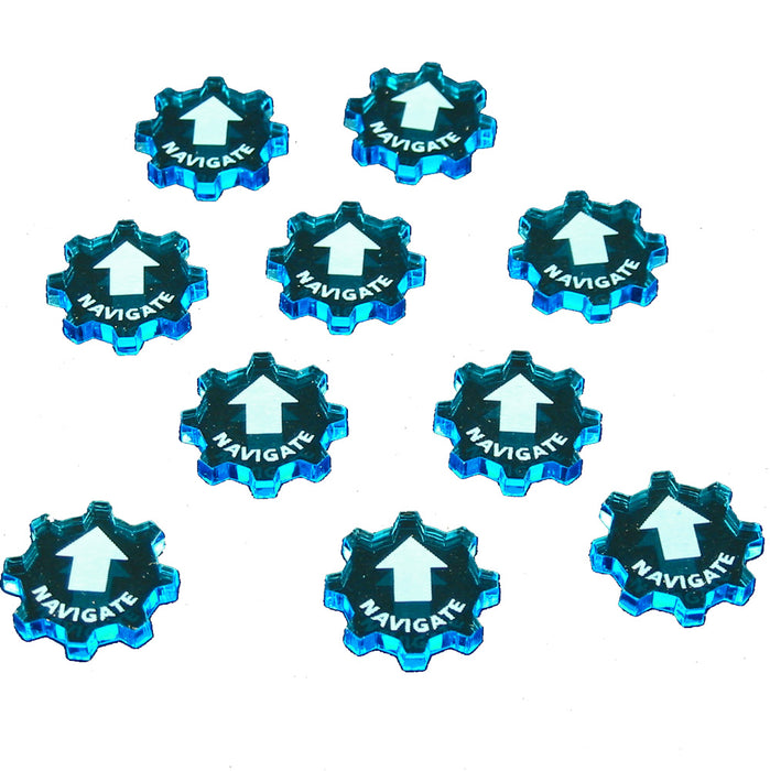 SW: Armada Navigate Command Tokens, Fluorescent Blue (10) - LITKO Game Accessories