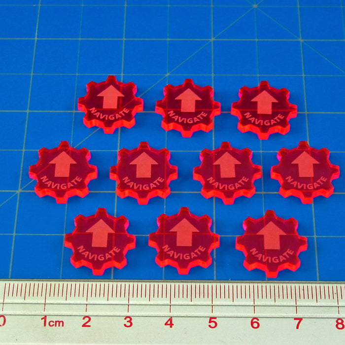 SW: Armada Navigate Command Tokens, Fluorescent Pink (10) - LITKO Game Accessories
