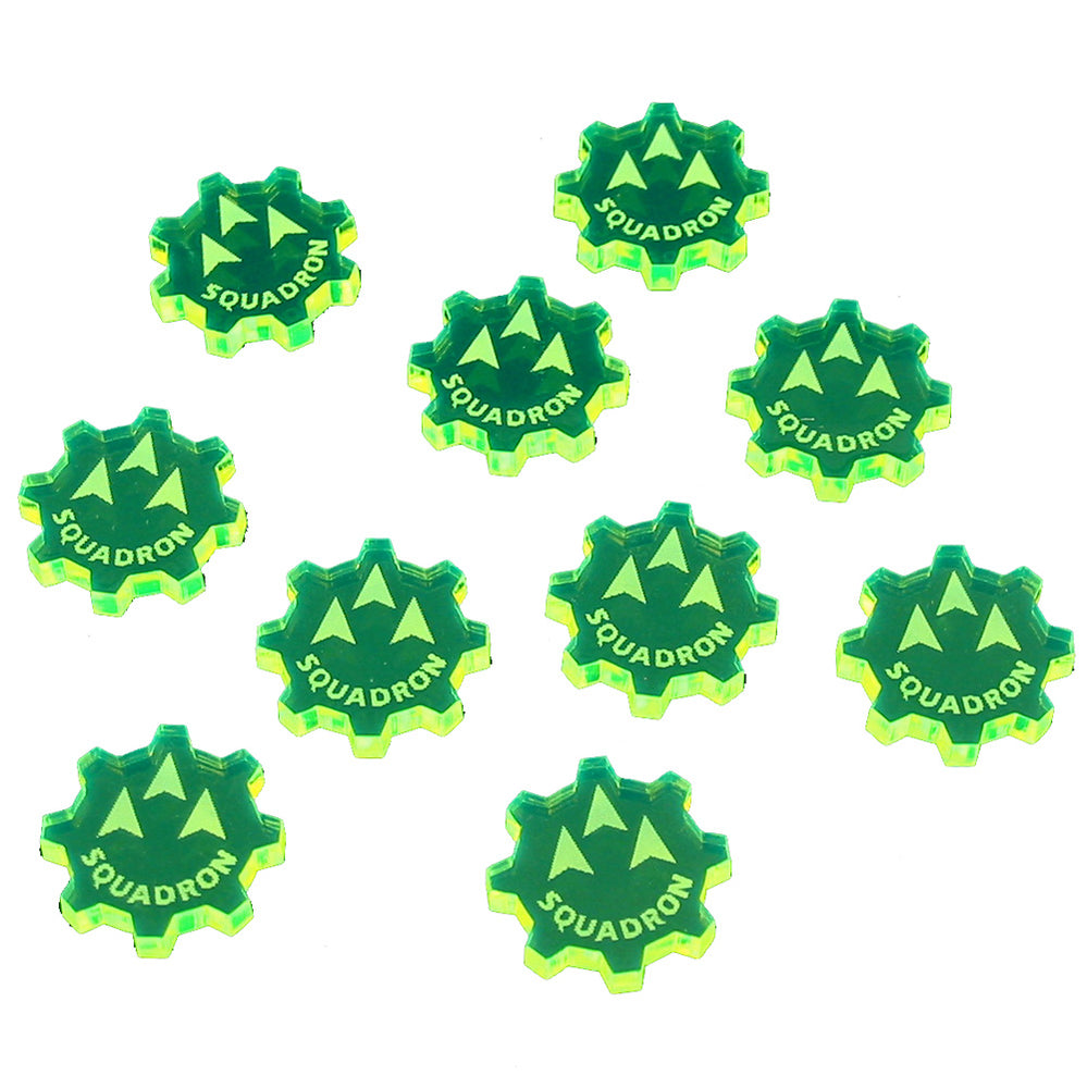 SW: Armada Squadron Command Tokens, Fluorescent Green (10) - LITKO Game Accessories