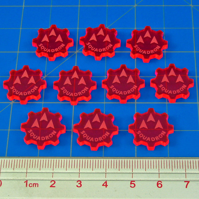 SW: Armada Squadron Command Tokens, Fluorescent Pink (10) - LITKO Game Accessories