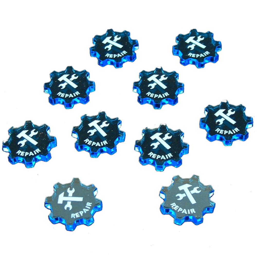 SW: Armada Repair Command Tokens, Fluorescent Blue (10) - LITKO Game Accessories