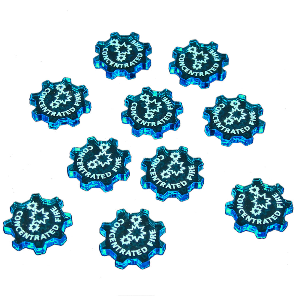 SW: Armada Concentrated Fire Command Tokens, Fluorescent Blue (10) - LITKO Game Accessories