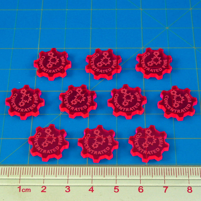 SW: Armada Concentrated Fire Command Tokens, Fluorescent Pink (10) - LITKO Game Accessories