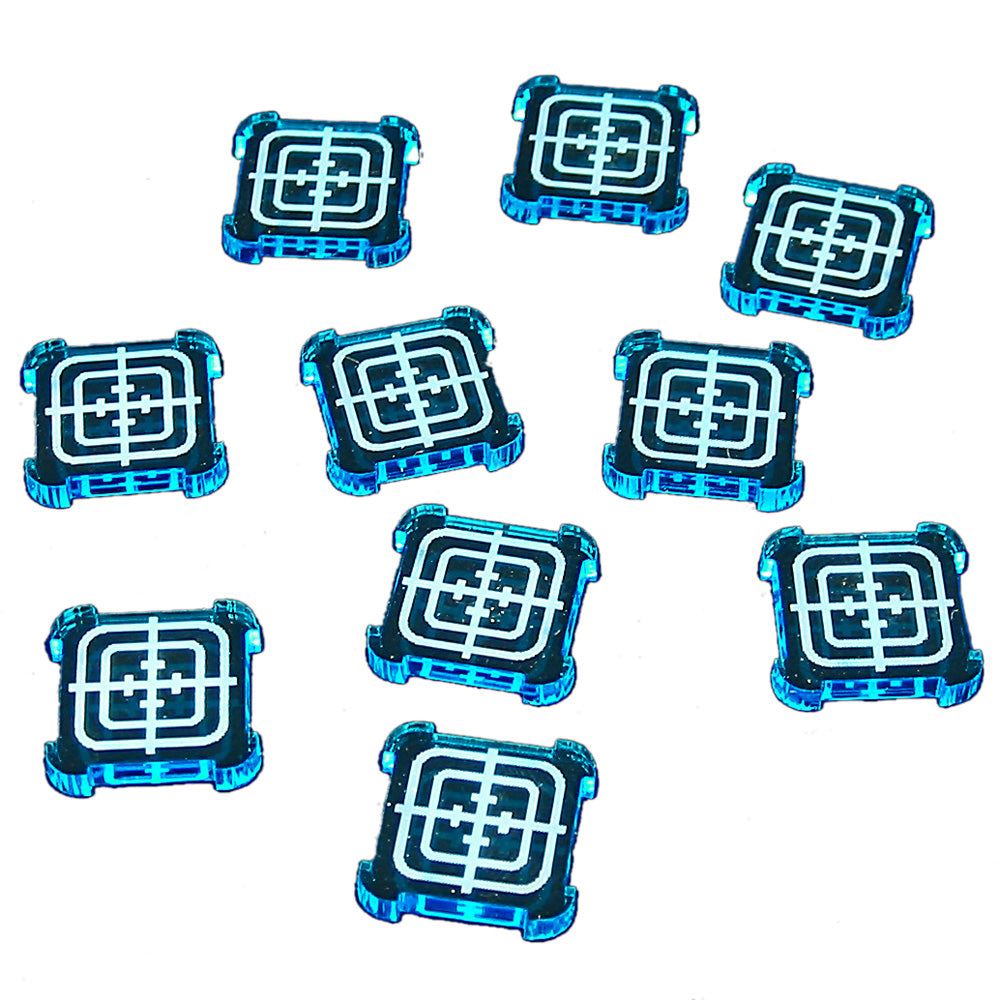 SW: Armada Objective Tokens, Fluorescent Blue (10) - LITKO Game Accessories