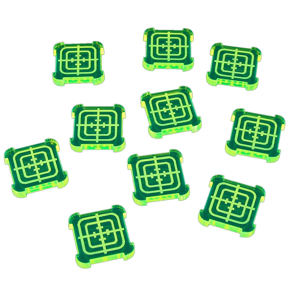 SW: Armada Objective Tokens, Fluorescent Green (10) - LITKO Game Accessories