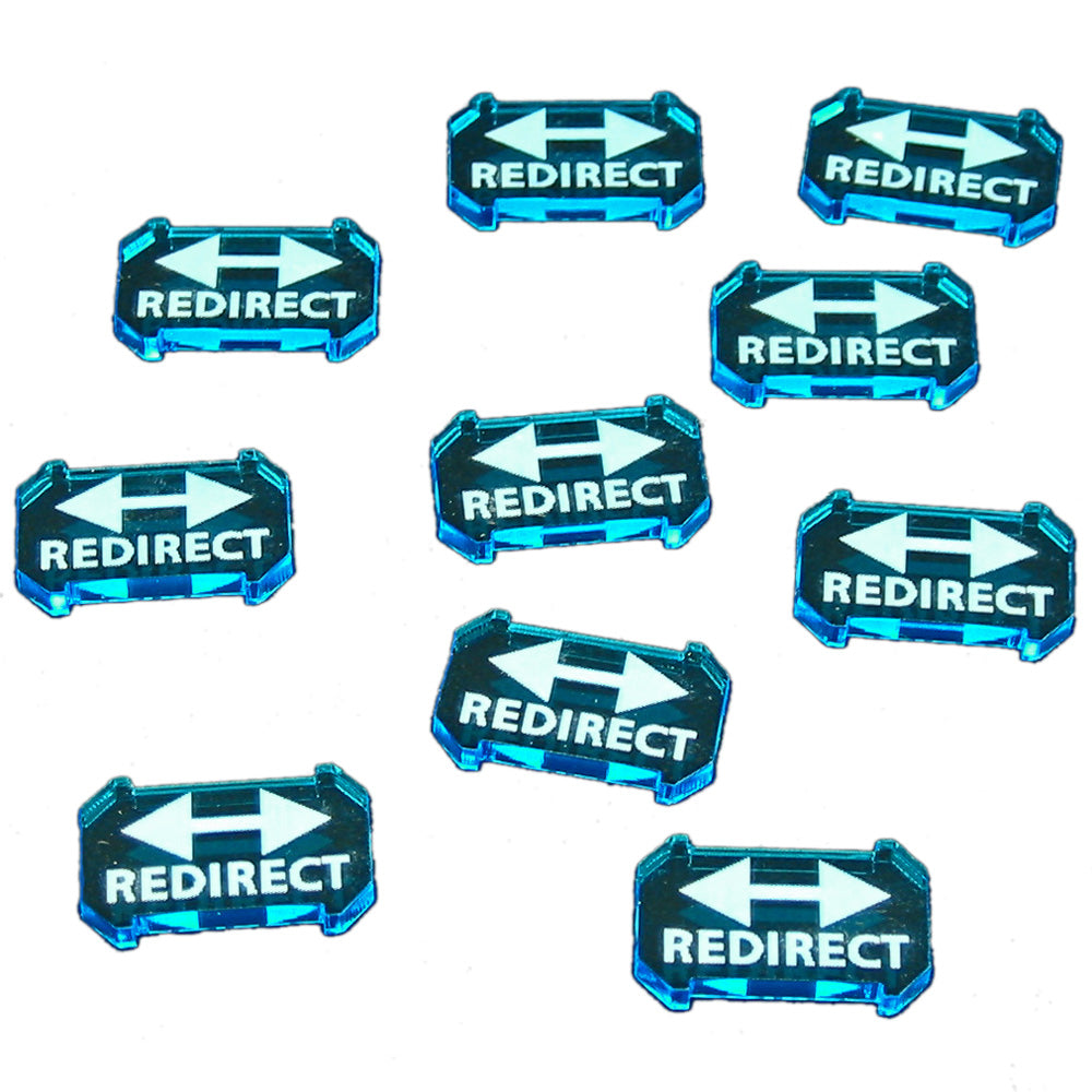 SW: Armada Redirect Defense Tokens, Fluorescent Blue (10) - LITKO Game Accessories