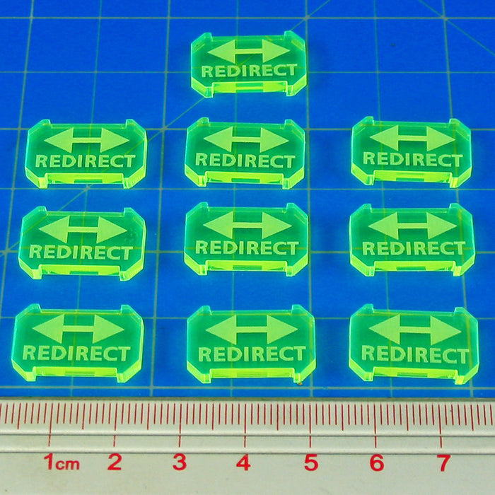 SW: Armada Redirect Defense Tokens, Fluorescent Green (10) - LITKO Game Accessories
