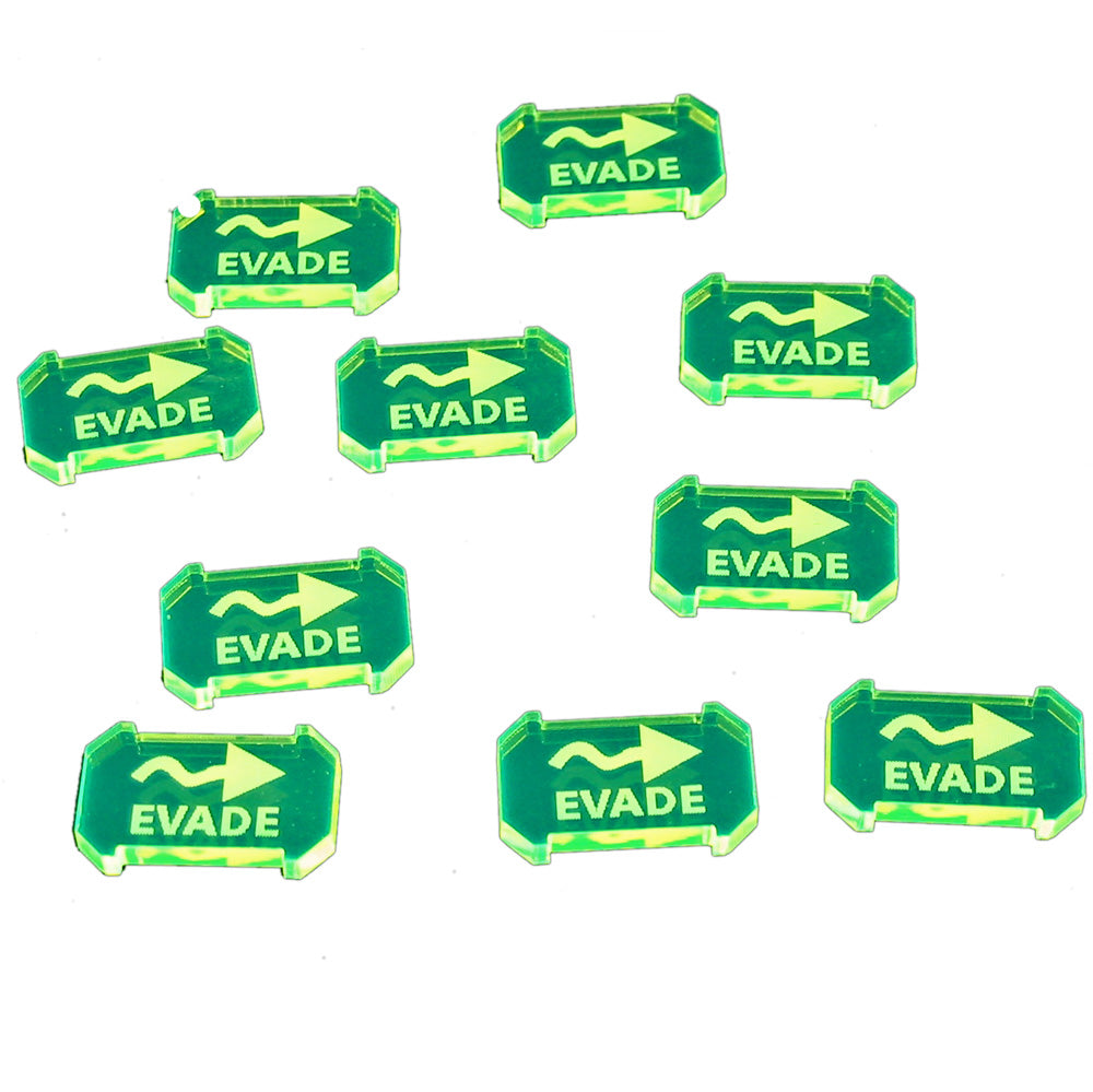SW: Armada Evade Defense Tokens, Fluorescent Green (10) - LITKO Game Accessories