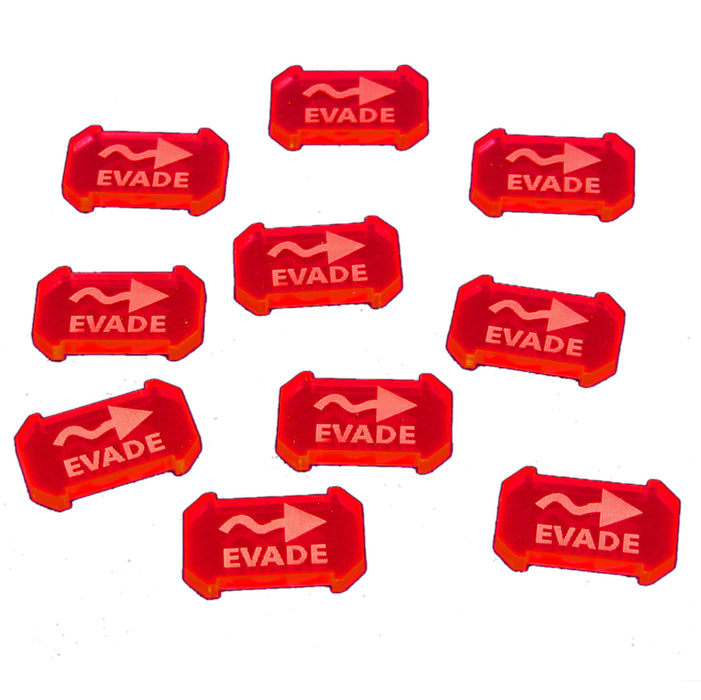 SW: Armada Evade Defense Tokens, Fluorescent Pink (10) - LITKO Game Accessories
