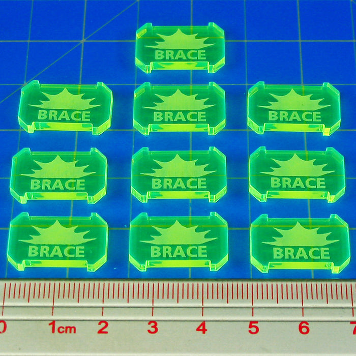 SW: Armada Brace Defense Tokens,Fluorescent Green (10) - LITKO Game Accessories