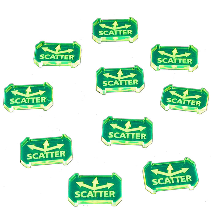 SW: Armada Scatter Defense Tokens, Fluorescent Green (10) - LITKO Game Accessories