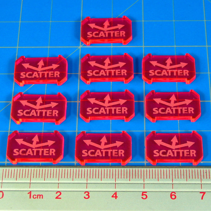 SW: Armada Scatter Defense Tokens, Fluorescent Pink (10) - LITKO Game Accessories