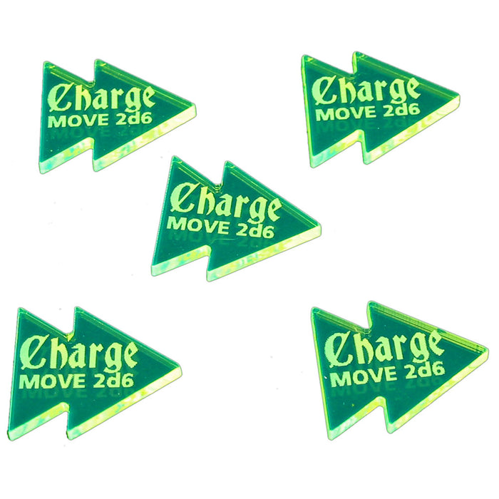 LITKO Charge Tokens Compatible with AoS: 1st Edition Fluorescent Green (5) - LITKO Game Accessories