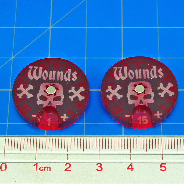 LITKO #1-15 Wound Dials Compatible with AoS: 1st & 2nd Edition (2) - LITKO Game Accessories