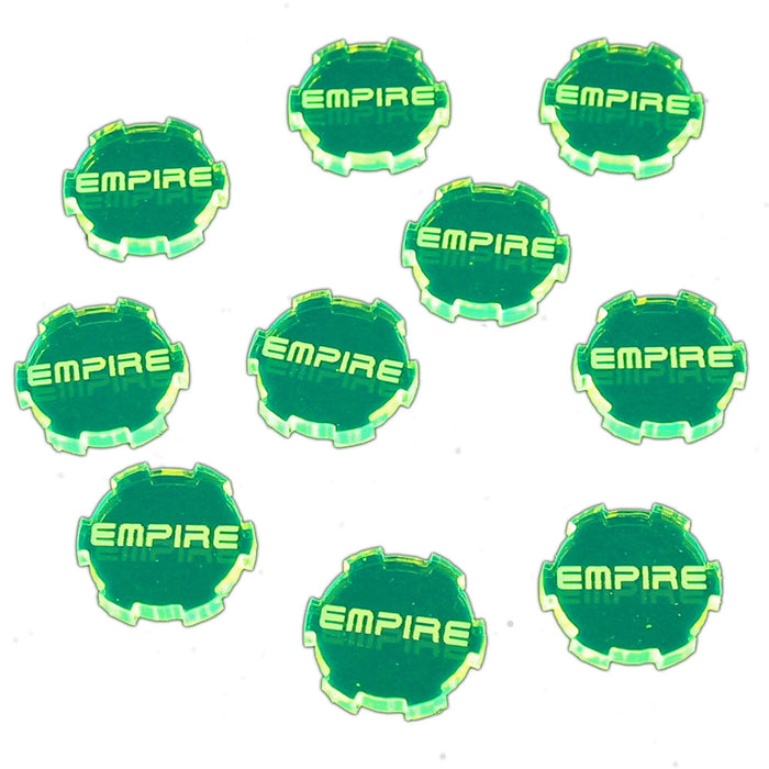 Empire Faction Tokens, Fluorescent Green (10) - LITKO Game Accessories