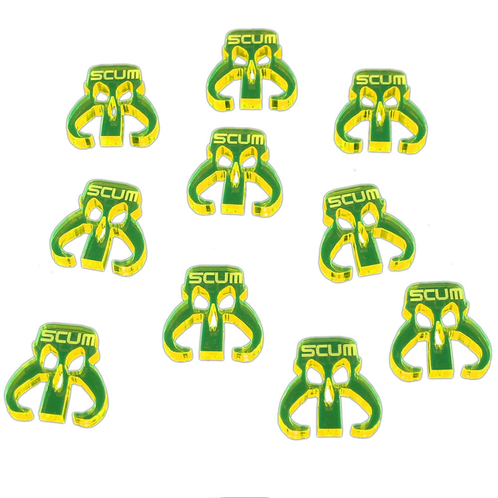 Scum Faction Tokens, Fluorescent Yellow  (10) - LITKO Game Accessories