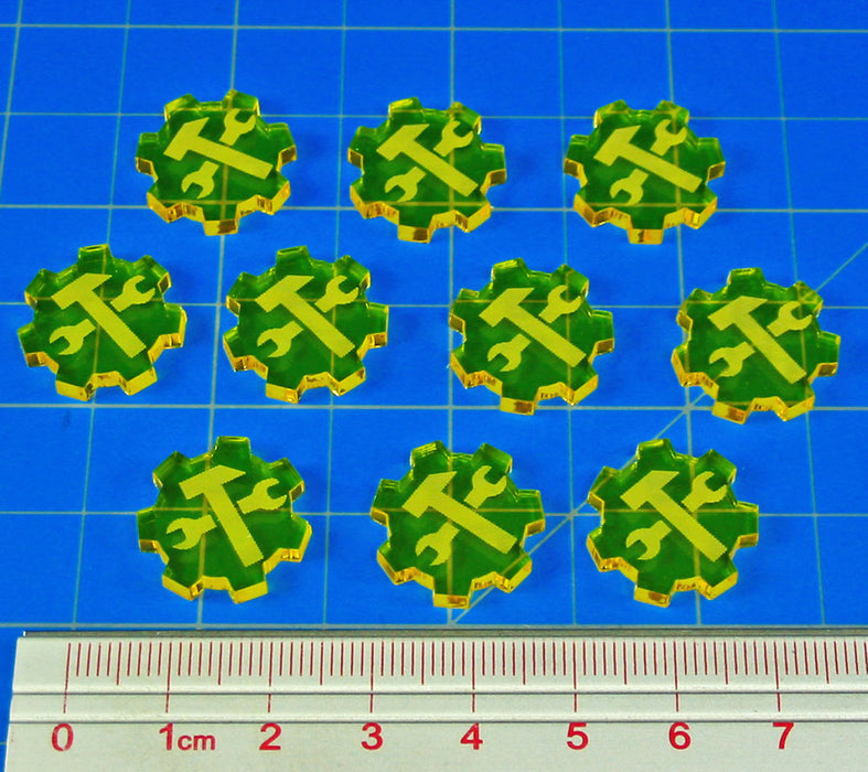 Resource Tokens, Transparent Yellow (10) - LITKO Game Accessories