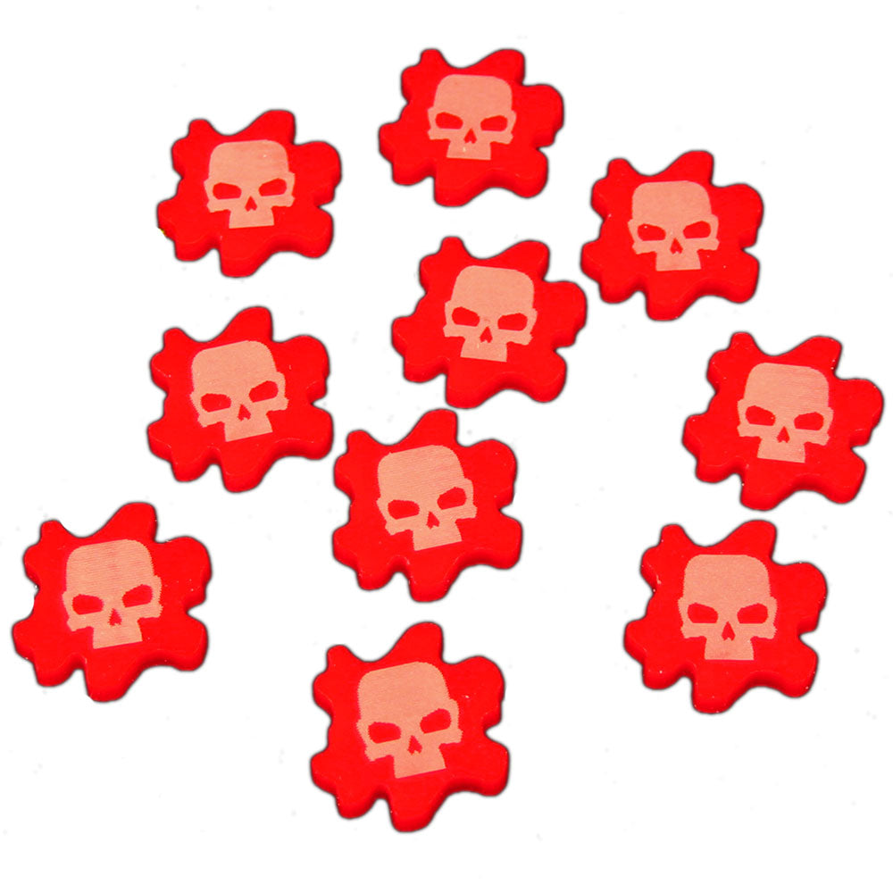 Resource Tokens, Red (10) - LITKO Game Accessories