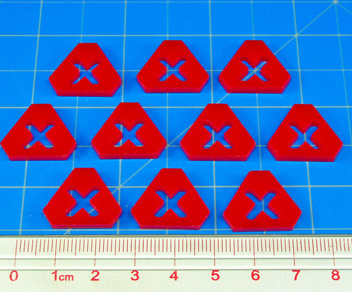 Done Action Tokens, Red (10) - LITKO Game Accessories