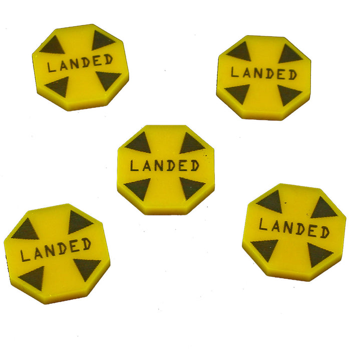 Landed Tokens, Gold (5) - LITKO Game Accessories