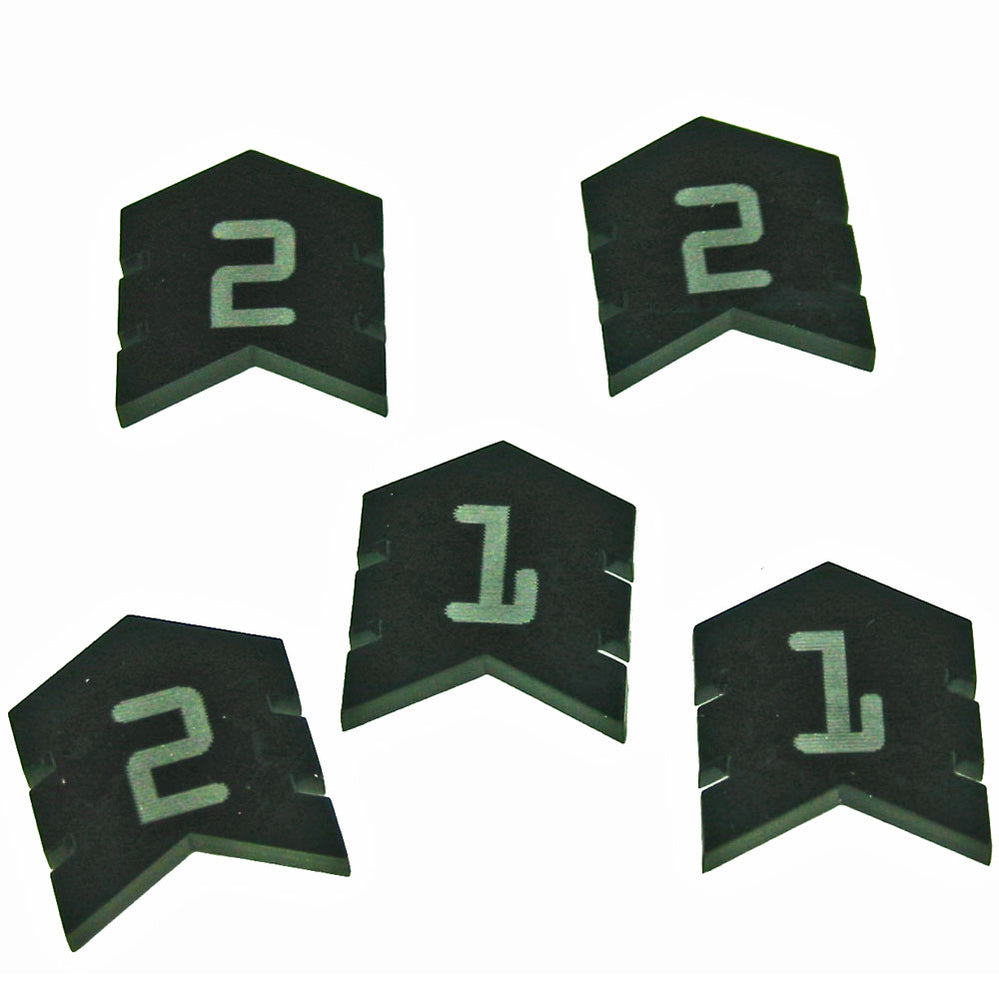Terminator Command Tokens, Black (5) - LITKO Game Accessories