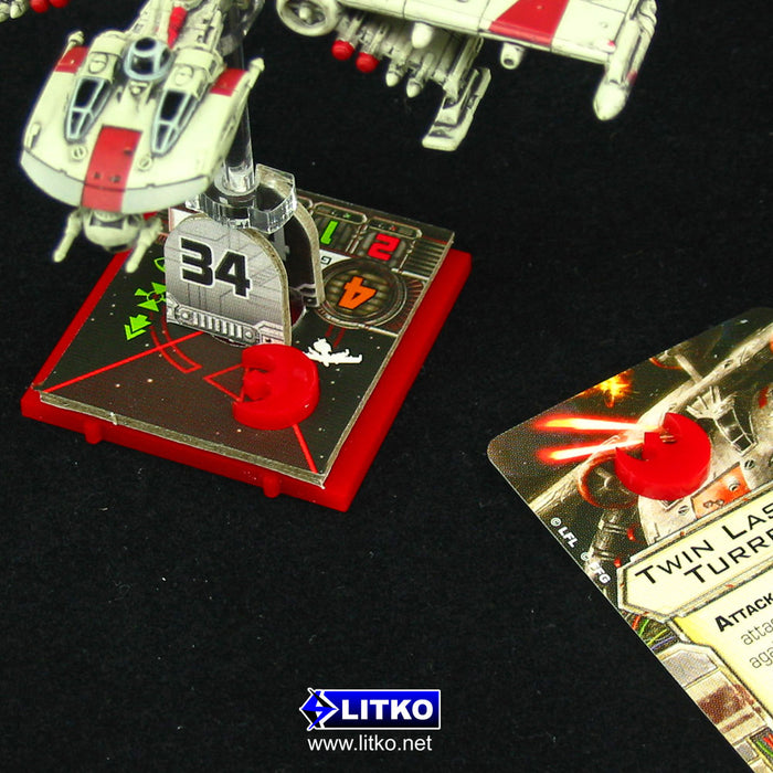 Micro Faction Tokens Rebel, Red (15) - LITKO Game Accessories