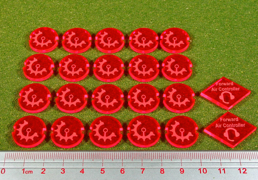 Dropzone Tribal Faction Battle Group Tokens, Fluorescent Pink (22) - LITKO Game Accessories