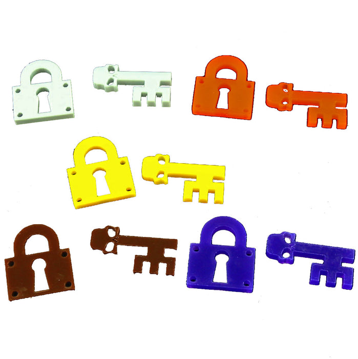 Lock and Key Tokens, Multi-Color (10) - LITKO Game Accessories