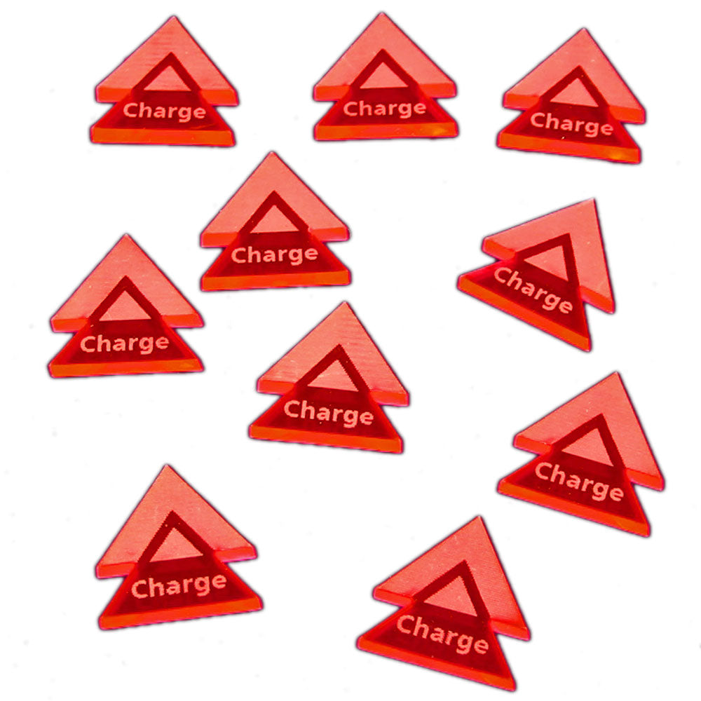 Charge Double Arrow Tokens, Fluorescent Pink (10) - LITKO Game Accessories