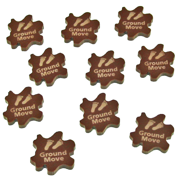 Ground Move Tokens, Brown (10) - LITKO Game Accessories