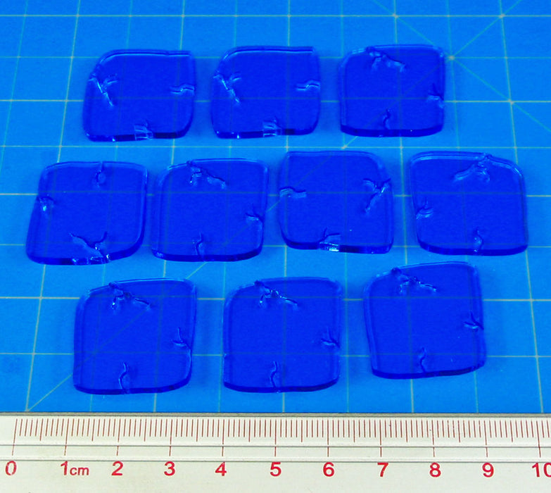 Dungeon Floor Ice Tiles, Fluorescent Blue (10) - LITKO Game Accessories