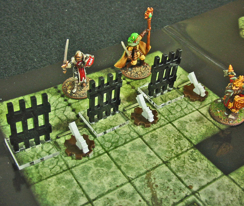 Dungeon Lever Markers, Grey & Brown (5) - LITKO Game Accessories