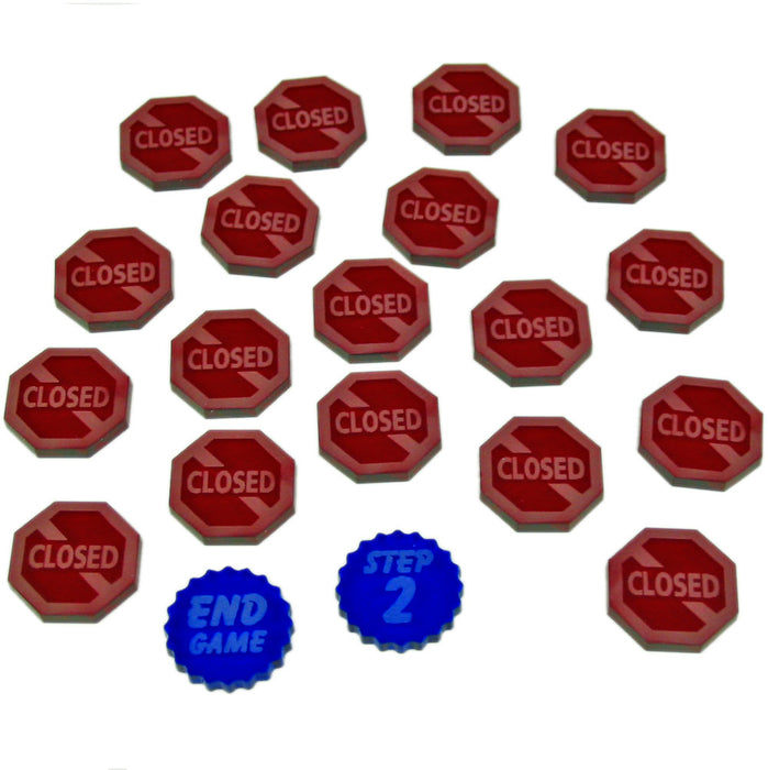 Power Plant Upgrade Set, Translucent Blue and Red (20) - LITKO Game Accessories