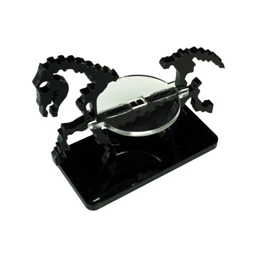 Skeletal Steed Character Mount with 25x50mm Base, Black - LITKO Game Accessories