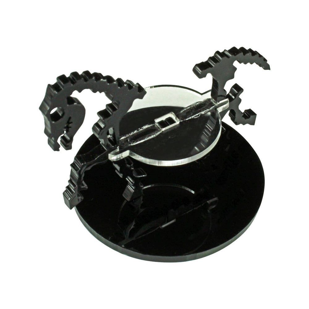 Skeletal Steed Character Mount with 50mm Circular Base, Black - LITKO Game Accessories