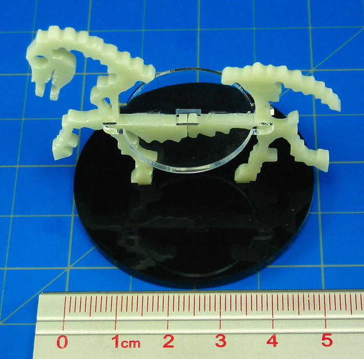 Skeletal Steed Character Mount with 50mm Circular Base, Ivory - LITKO Game Accessories