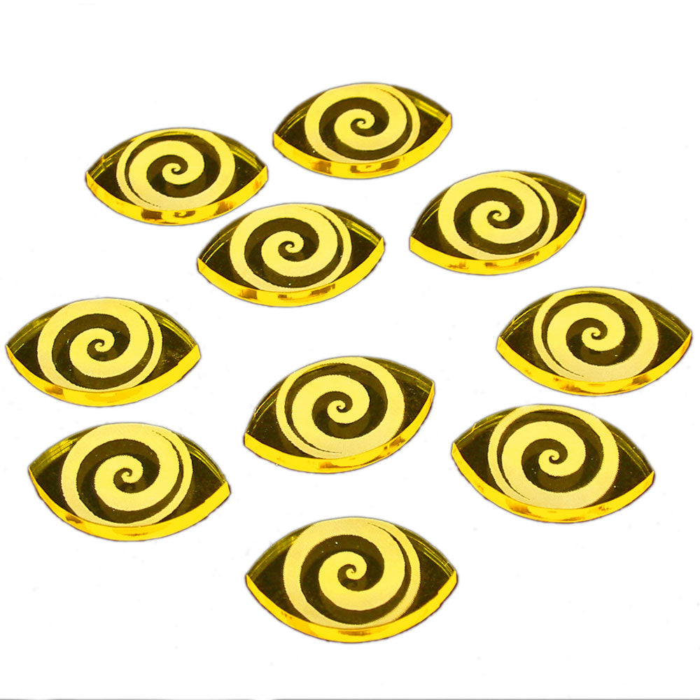 Cthulhu Focus Tokens, Transparent Yellow (10) - LITKO Game Accessories