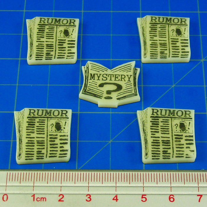 Cthulhu Rumor & Mystery Token Set, Ivory (5) - LITKO Game Accessories