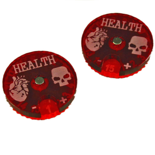 LITKO Cthulhu Health Dials, Fluorescent Pink and Translucent Red (2) - LITKO Game Accessories
