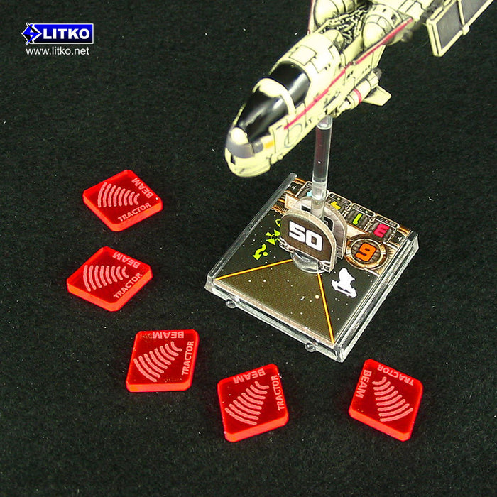 Space Fighter Tractor Beam Tokens, Fluorescent Pink (10) - LITKO Game Accessories