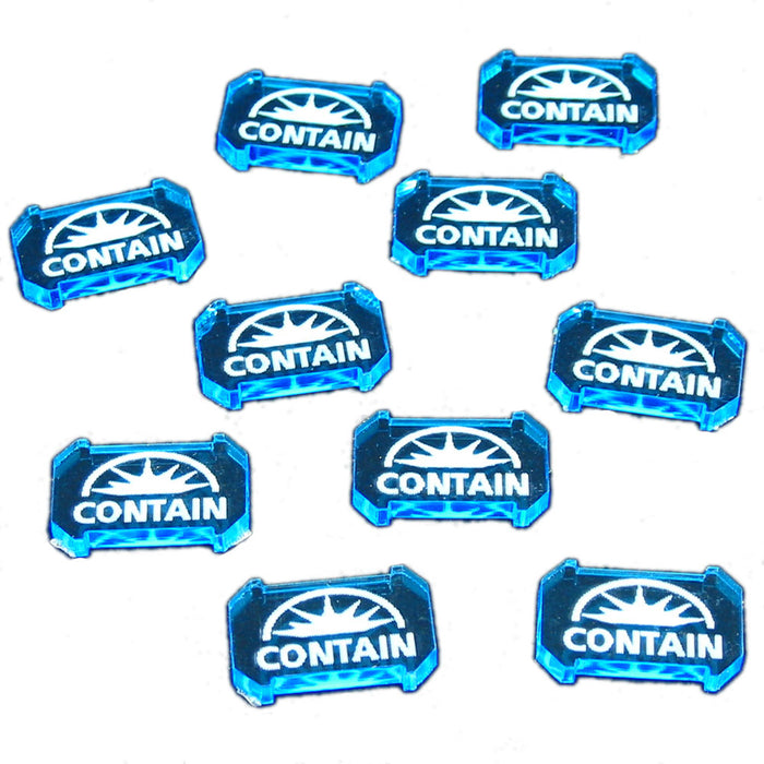 SW: Armada Contain Defense Tokens, Fluorescent Blue (10) - LITKO Game Accessories