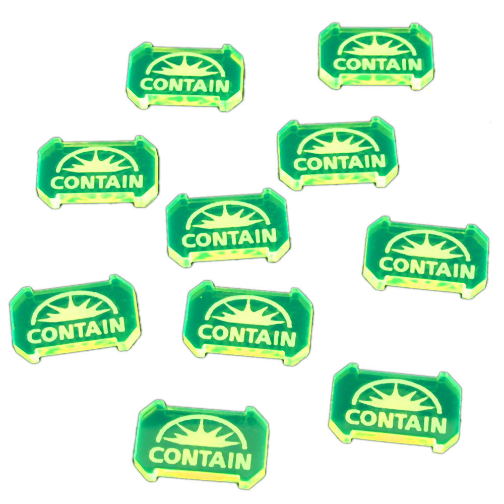 SW: Armada Contain Defense Tokens, Fluorescent Green (10) - LITKO Game Accessories