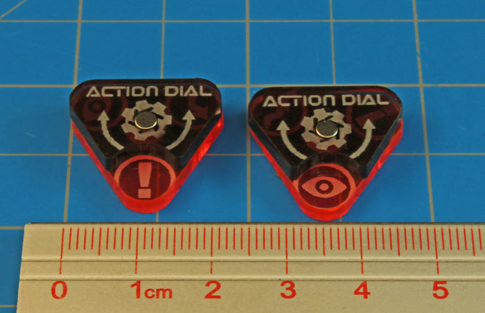 Space Fighter Action Dials, Fluorescent Pink (2) - LITKO Game Accessories