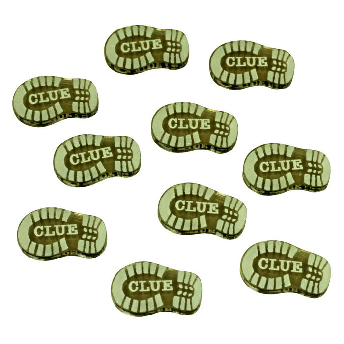 Cthulhu, Elder Clue Tokens, Transparent Bronze (10) - LITKO Game Accessories