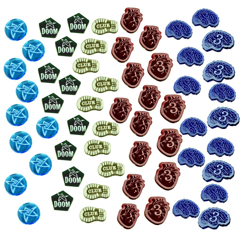 Cthulhu Elder Horror Game Token Set, Multi-Color (60) - LITKO Game Accessories