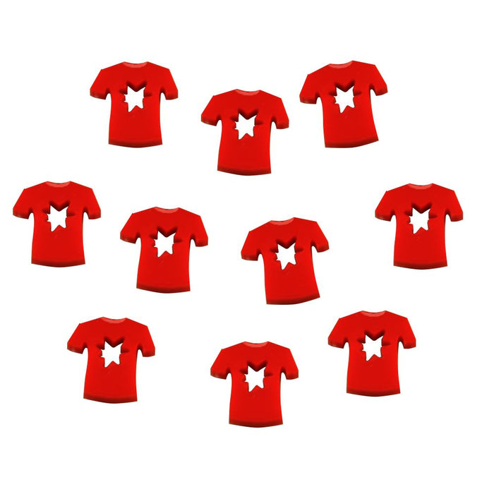 Red Shirt, Damage Tokens (10) - LITKO Game Accessories