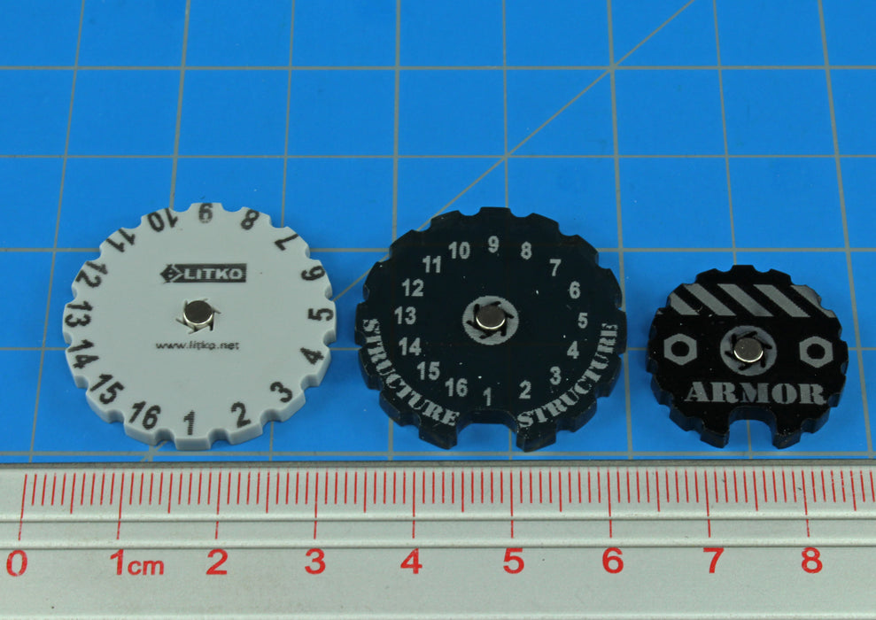 BT: ALPHA, Armor/Structure Dial Kit - LITKO Game Accessories