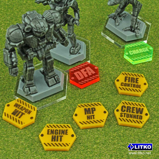 BT: ALPHA, Critical Damage Token Set (15) - LITKO Game Accessories